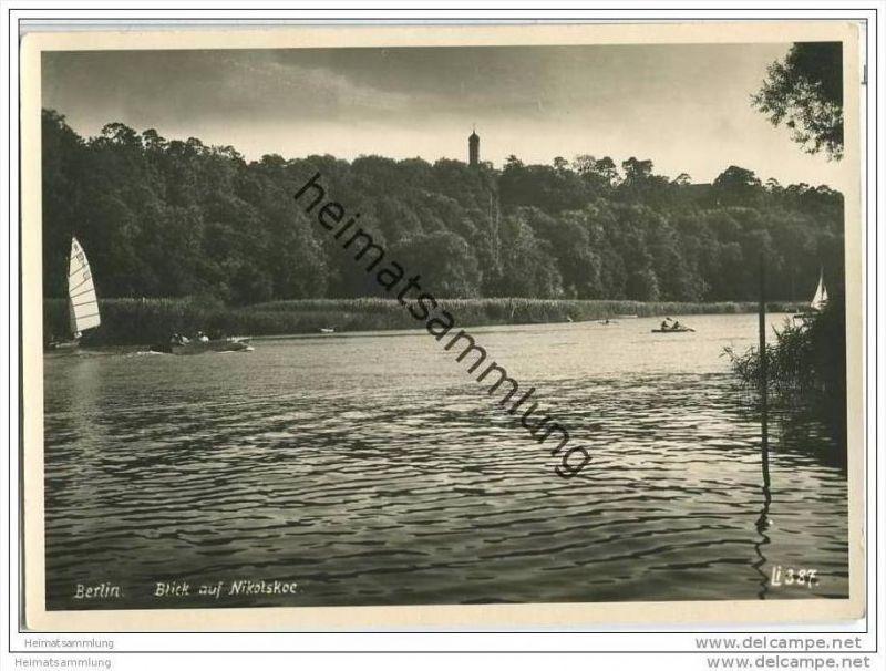 Berlin-Grunewald - Blick auf Nikolskoe - Foto-AK Großformat 50er Jahre 0