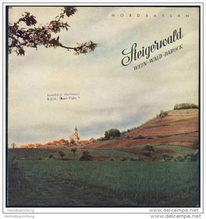 Steigerwald 1952 - Nordbayern - 16 Seiten mit 35 Abbildungen 0