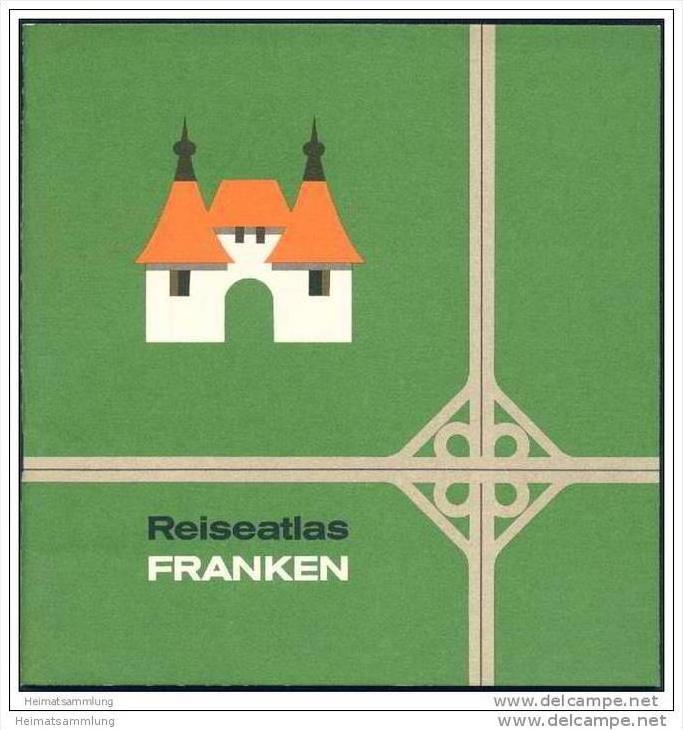 Reiseatlas Franken 1965 - 40 Seiten mit 21 Abbildungen und Illustrationen von Alois Schmitz 0