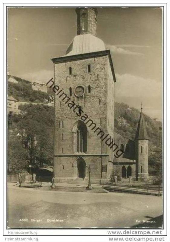 Bergen - Domkirken - Foto-AK Grossformat