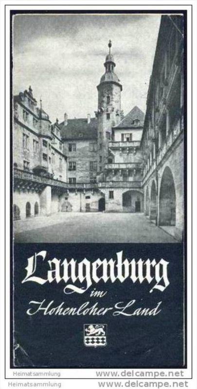 Langenburg im Hohenloher Land - Faltblatt mit 10 Abbildungen - Unterkunftsverzeichnis 0