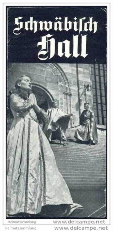 Schwäbisch Hall 1950 - Faltblatt mit 7 Abbildungen 0