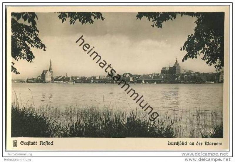 Seestadt Rostock - Warnow - Foto-AK 0