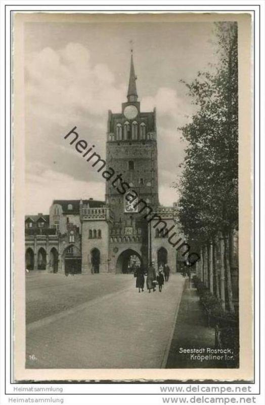 Seestadt Rostock - Kröpeliner Tor - Foto-AK