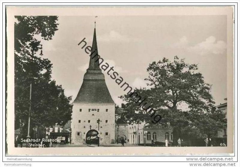 Seestadt Rostock - Steintor - Foto-AK
