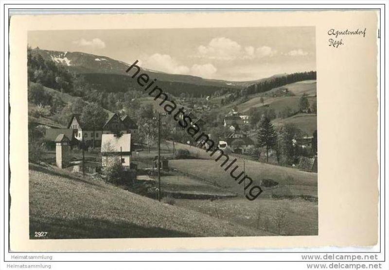 Jagniatkow - Agnetendorf - Schneegrubenbaude - Foto-AK