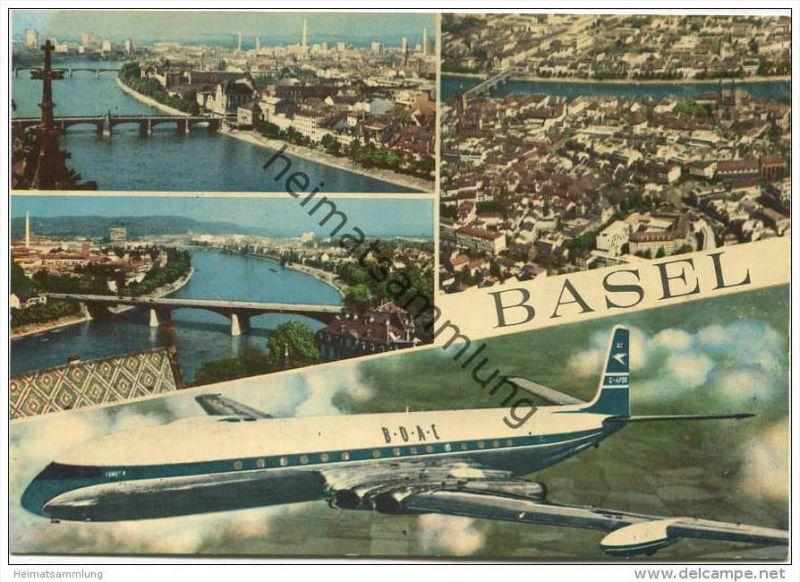 Basel - Flugzeug B.O.A.C. G-APOR British Overseas Airways Corporation - Verlag Marco Danzi & Co. Locarno - AK-Grossf 0