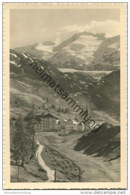 Ober-Gurgl - Das höchstgelegene Kirchdorf in Tirol - Foto-AK - Verlag Lohmann & Aretz Ober-Gurgl 40er Jahre 0