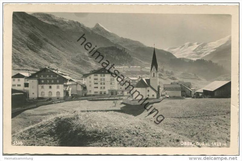 Ober-Gurgl - Gasthaus Pension Fender - Hotel Gurgl - Foto-AK - Verlag Much Heiss' Nachf.  Innsbruck 40er Jahre 0
