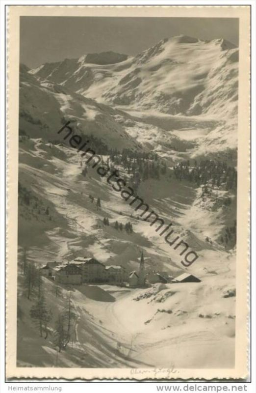 Ober-Gurgl - Tiroler Gletscherdorf - Foto-AK - Verlag Lohmann & Aretz Ober-Gurgl gel. 1943 0