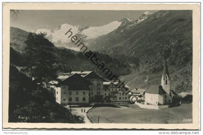 Gurgl - Foto-AK - Verlag Much Heiss' Nachf. Innsbruck gel. 1943 0