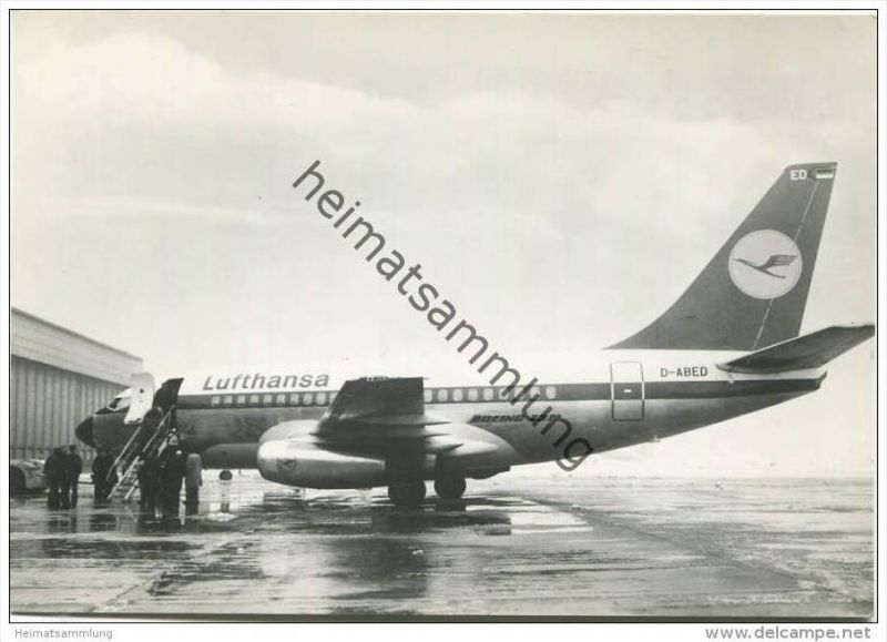 Stuttgart - Foto-AK Grossformat - Lufthansa-Flugzeug Boeing 737-130 City Jet 0