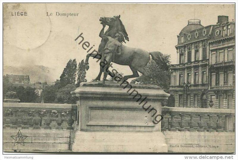 Liege - Le Dompteur - Feldpost gel. 1915 0