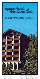 Flims-Waldhaus - Appart-Hotel des Alpes - Faltblatt mit 17 Abbildungen