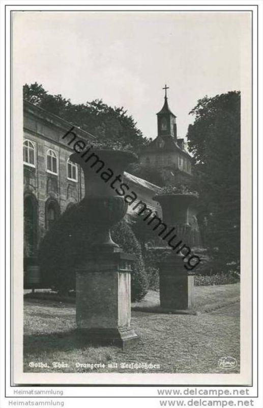 Gotha - Orangerie - Teeschlösschen - Foto-AK 0