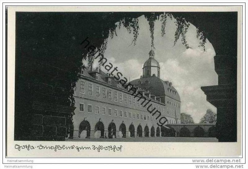 Gotha - Schlosshof - Foto-AK 0