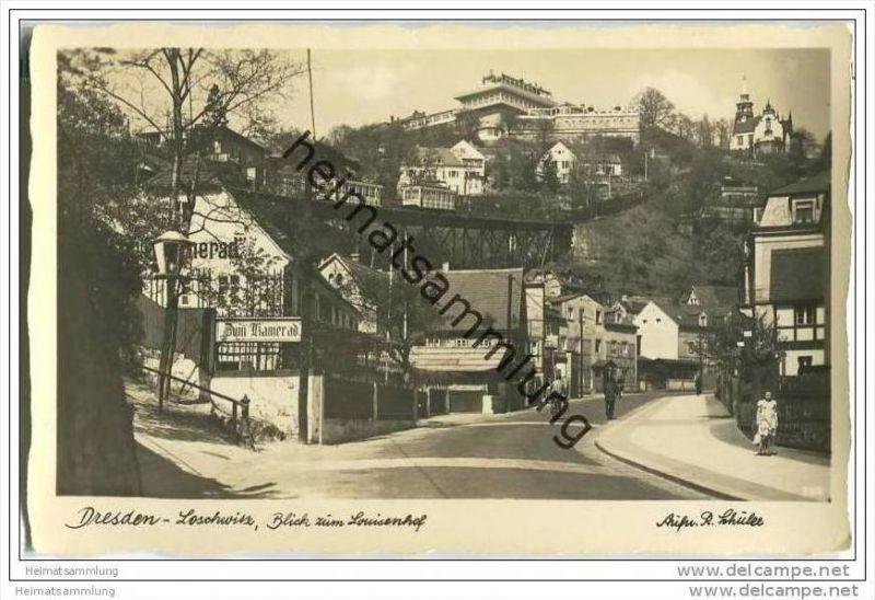 Dresden-Loschwitz - Louisenhof - Foto-AK Handabzug 0