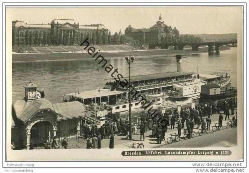 Dresden - Luxusdampfer Leipzig - Foto-AK 0