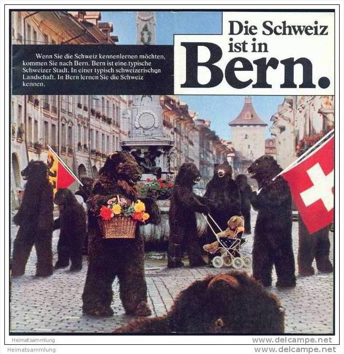 Bern 70er Jahre - 16 Seiten mit vielen Abbildungen - Wochenbulletin August 1977 44 Seiten Wissenswertes