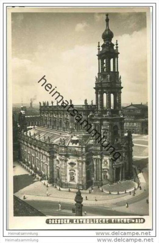 Dresden - Katholische Kirche - Foto-AK 0
