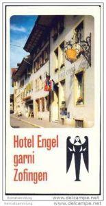 Zofingen 1976 - Hotel Engel - Faltblatt mit 5 Abbildungen