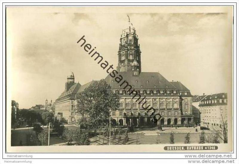 Dresden - Rathaus - Foto-AK 0