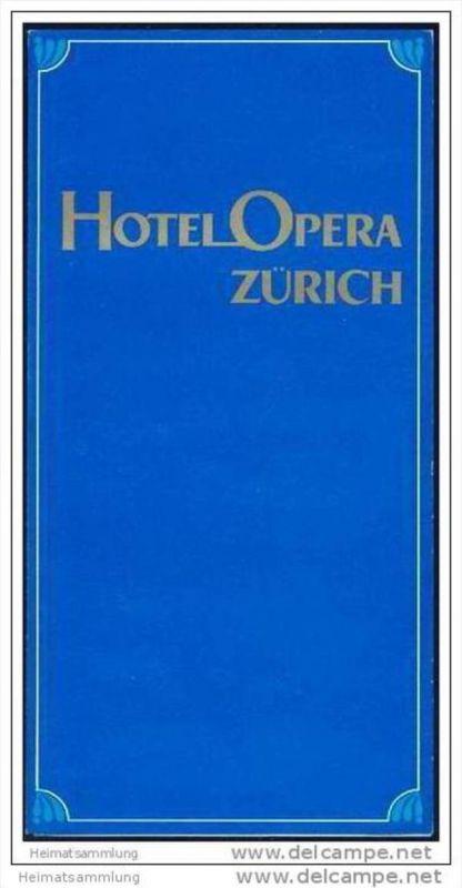 Zürich - Hotel Opera - Faltblatt mit 6 Abbildungen