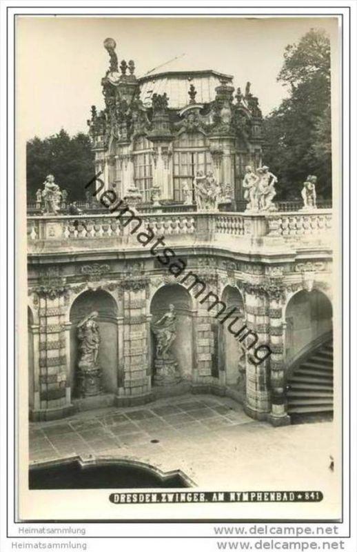 Dresden - Zwinger - Nymphenbad - Foto-AK