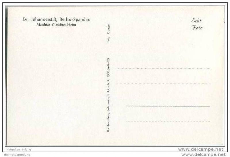 Berlin-Spandau - Ev. Johannesstift - Matthias-Claudius-Heim - Foto-AK 1