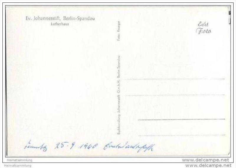 Berlin-Spandau - Ev. Johannesstift - Lutherhaus - Foto-AK 1