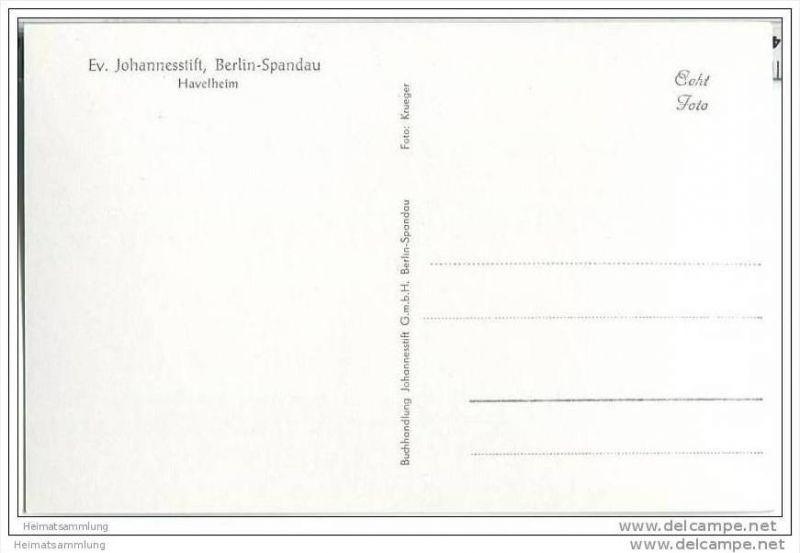 Berlin-Spandau - Ev. Johannesstift - Havelheim - Foto-AK 1