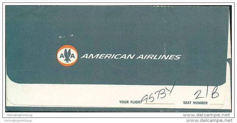 AA - American Airlines 1968 - Mexico Dulles Washington 0