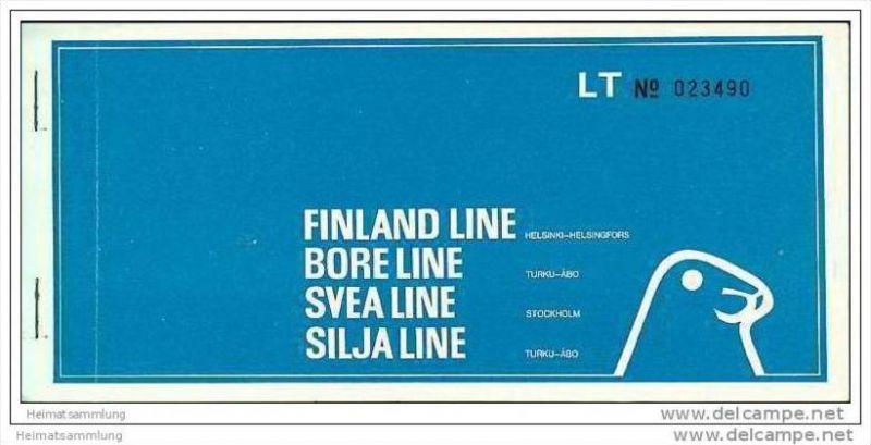Finland-Line Bore-Line Svea-Line Silja-Line 1972 - Turku Stockholm 0