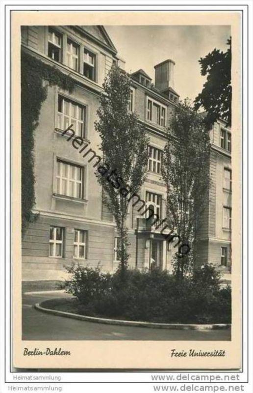 Berlin- Dahlem - Freie Universität - Foto-AK ca. 1950