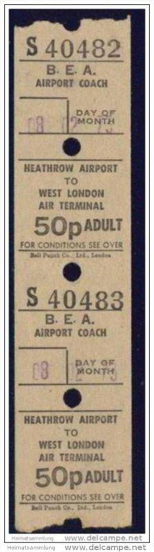 B.E.A. Airport Coach - Heathrow Airport to West London 1973 0
