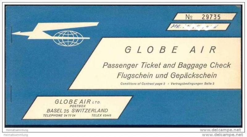 Globe Air 1962 - Basel Tunis Basel 0