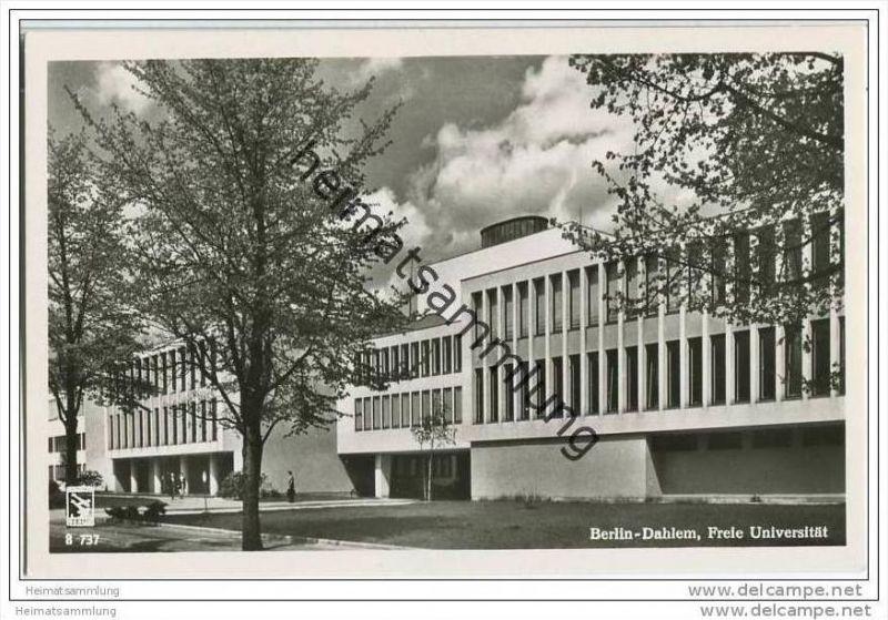 Berlin- Dahlem - Freie Universität - Foto-AK 50er Jahre