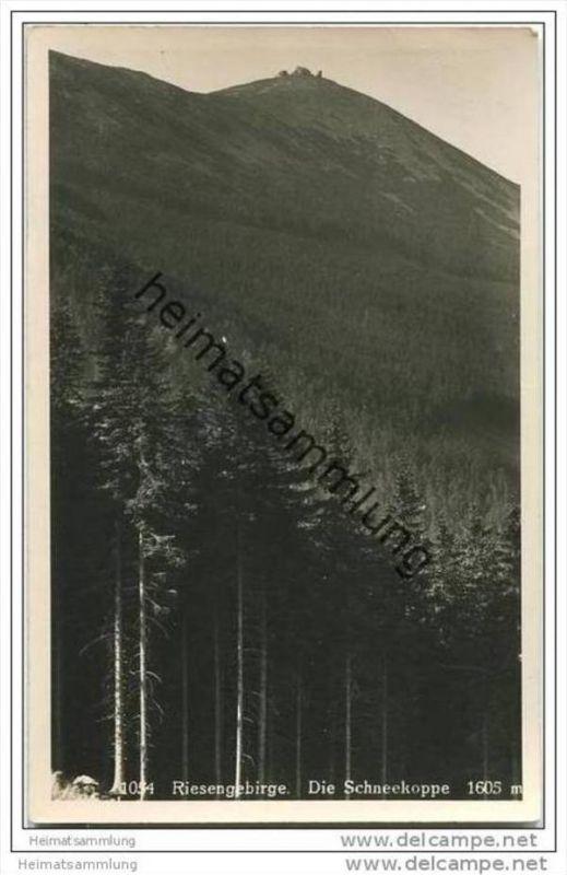 Schneekoppe - Foto-AK 30er Jahre 0