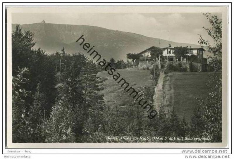 Schneegruben - Bismarckhöhe - Foto-AK 30er Jahre 0
