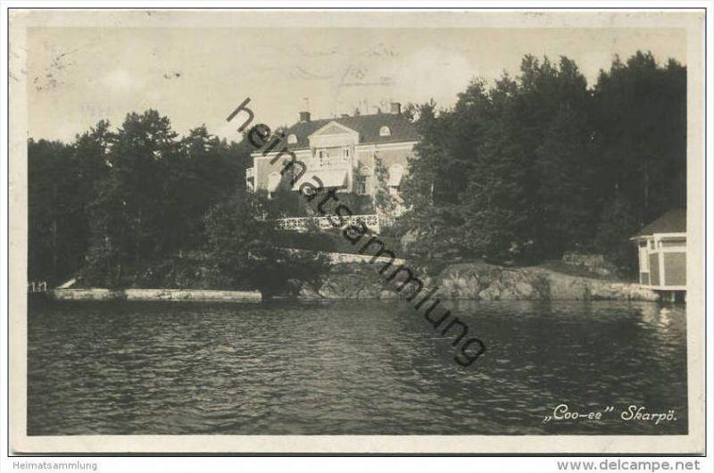 Skarpö - Coo-ee - Foto-AK gel. 1937 0