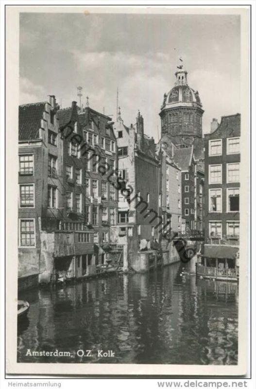 Amsterdam O.Z. Kolk - Foto-AK gel. 1952 0