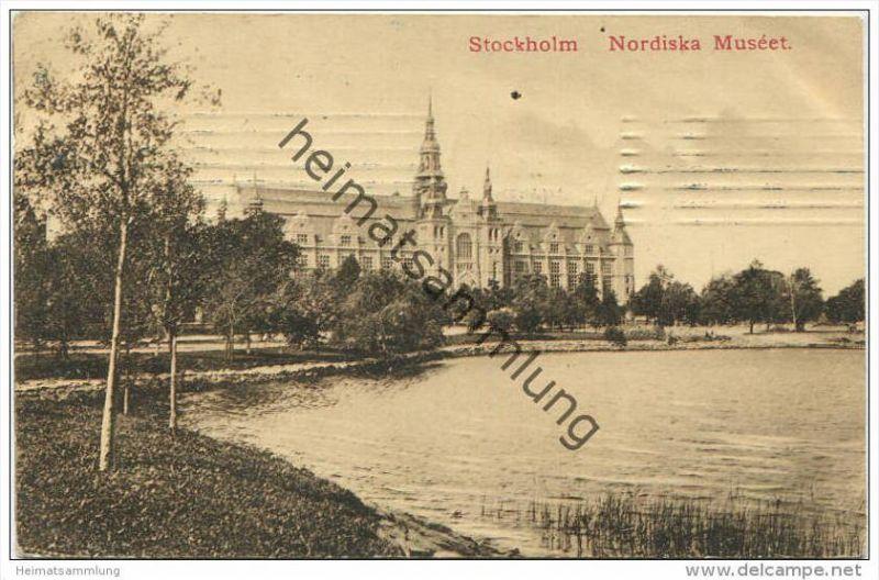 Stockholm - Nordiska Muséet gel. 1910 0