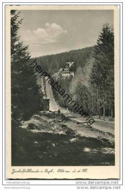Zackelfallbaude - Riesengebirge - Foto-AK 30er Jahre
