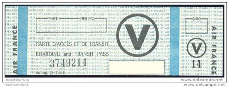 Boarding and Transit Pass - Air France 0
