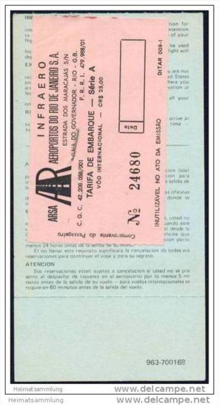 Boarding Pass - Braniff International 1