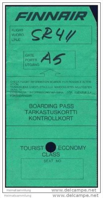 Boarding Pass - Finnair 0