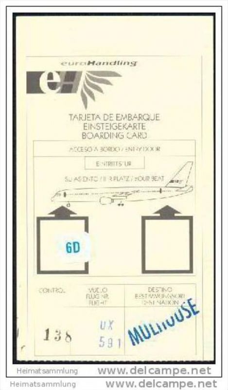 Boarding Pass - Iberia - EuroHandling 0