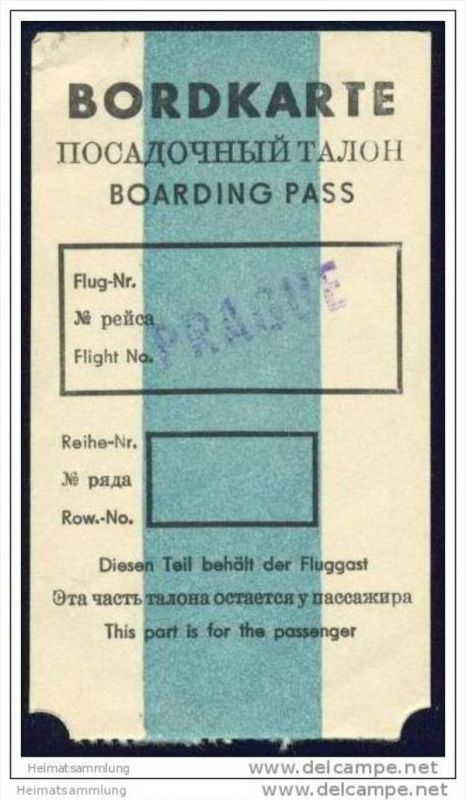 Boarding Pass - Interflug