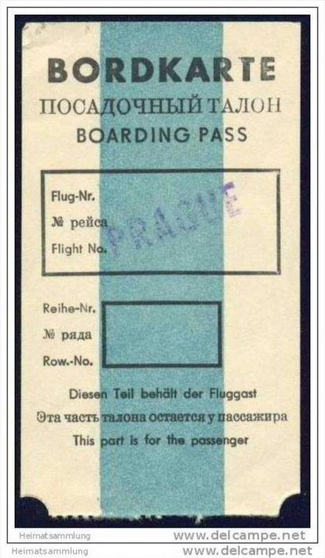 Boarding Pass - Interflug