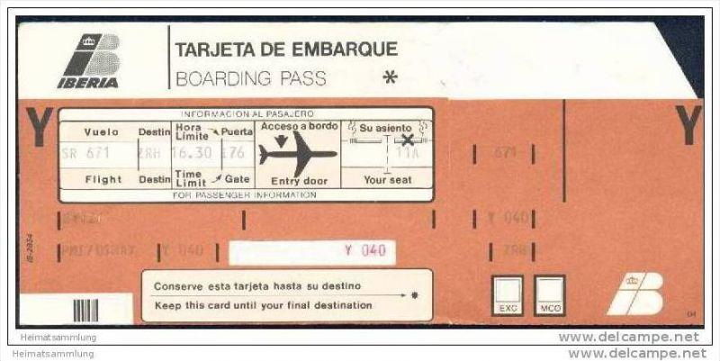 Boarding Pass - Iberia